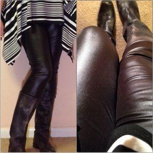 Pants - Glam chic faux leather liquid legging